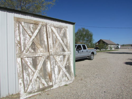 Rustic Barn Doors, Faded White